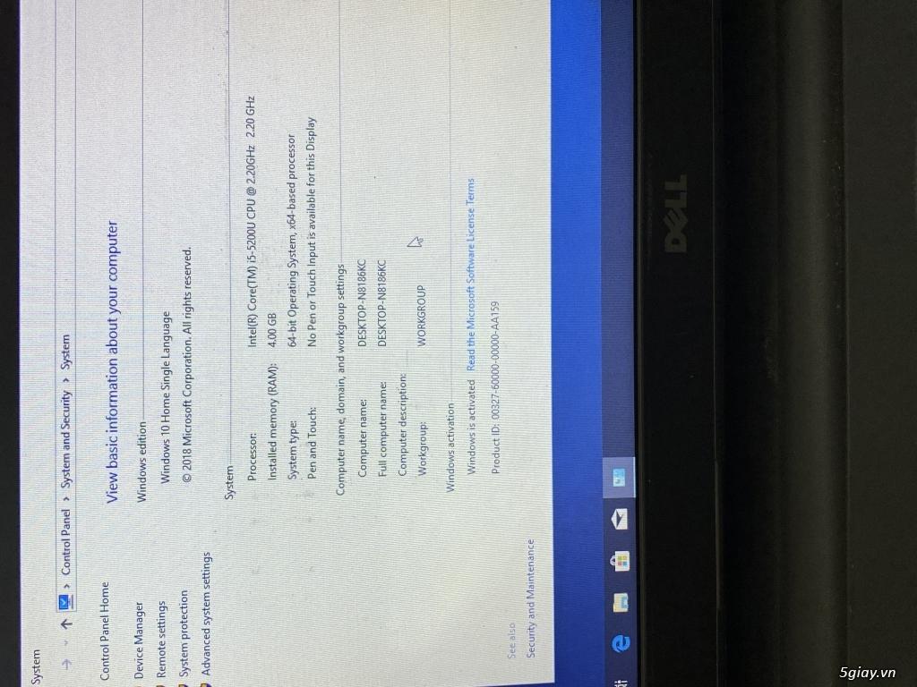 Trao đổi laptop Dell I5 - 3