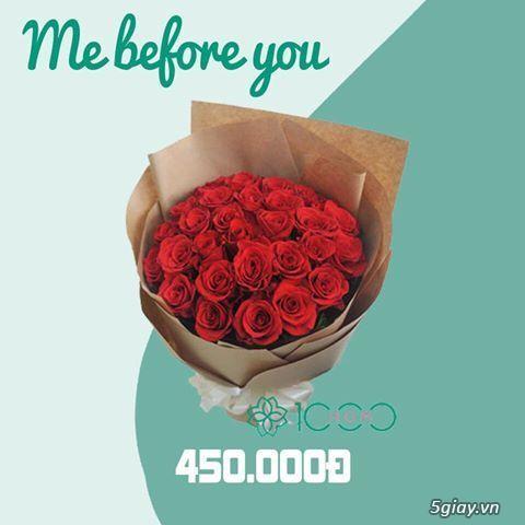 Bó hoa hồng Me Before You gồm 30 bông hồng đỏ rực rỡ