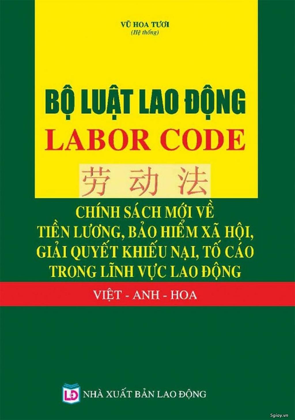 Bộ luật lao động 2019 Việt, anh, hoa - 1