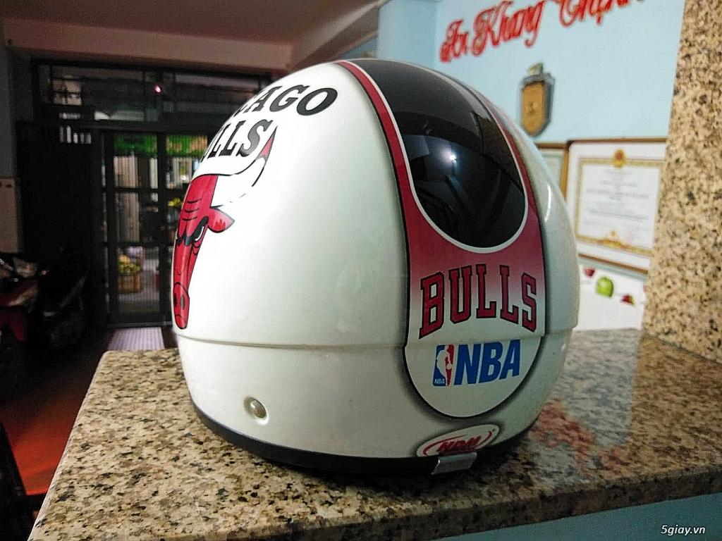 Nón Bảo Hiểm 3/4 GIVI chính hãng có luôn kính demi tem bóng rỗ NBA - 4