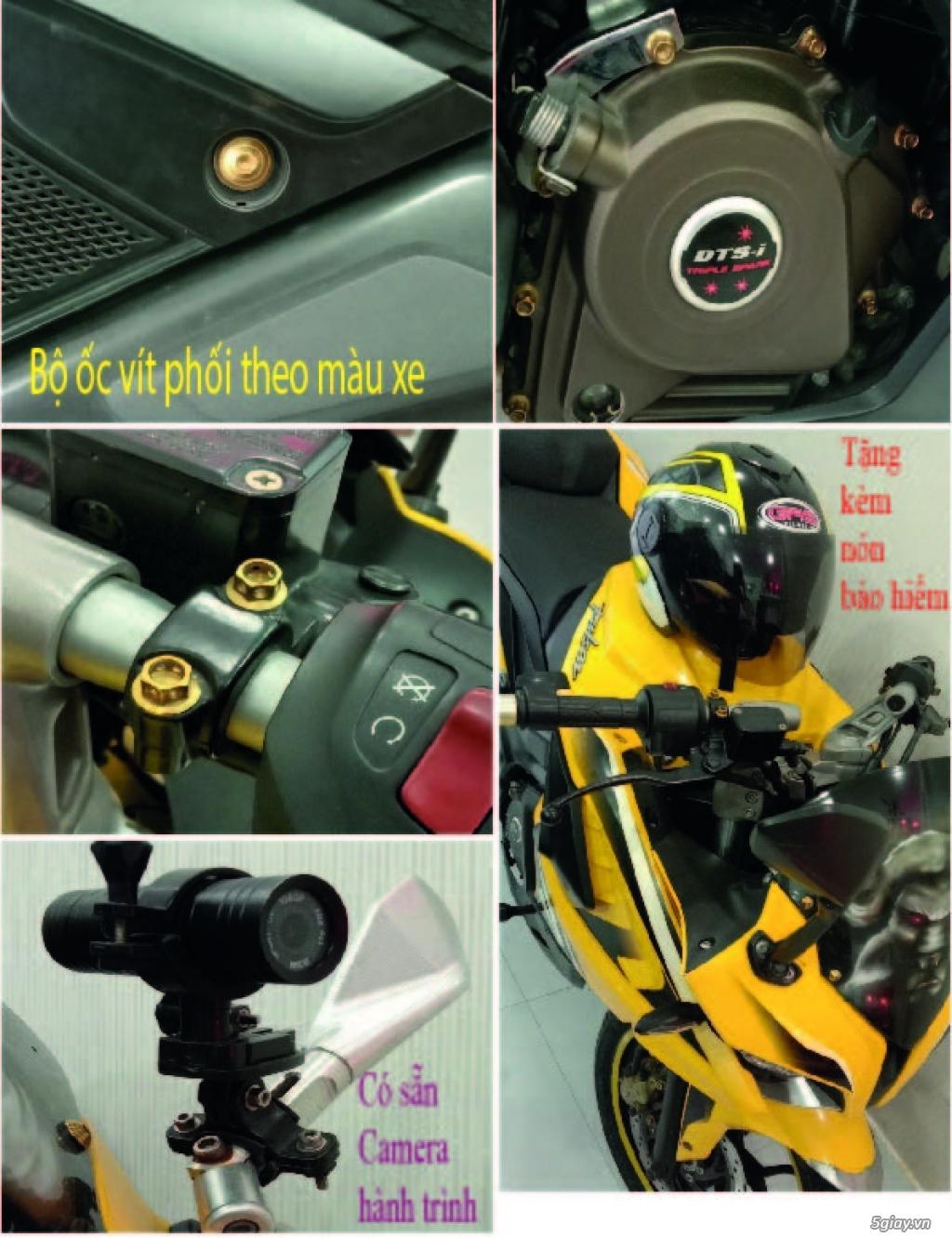 cần bán : xe môtô Pulsar RS200 màu vàng - như mới - 5