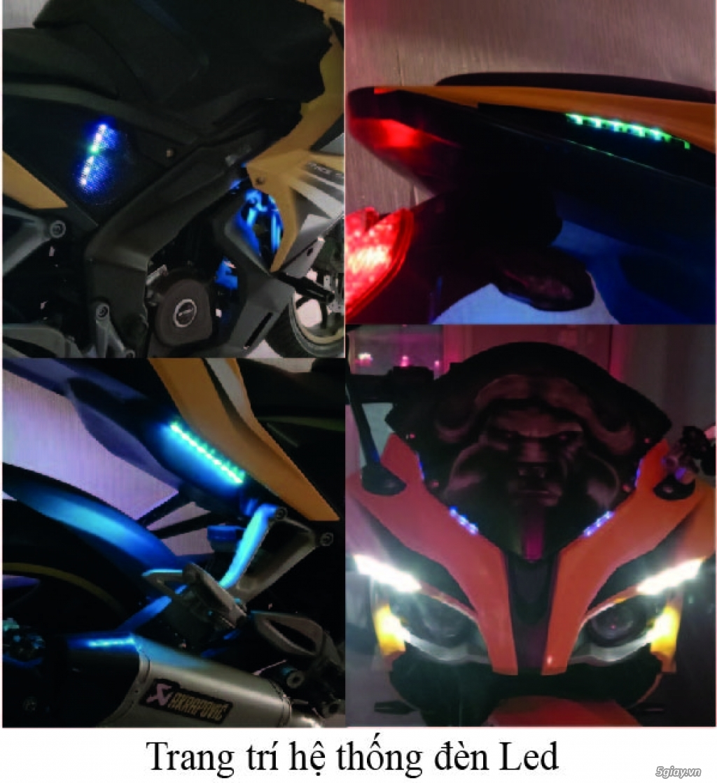 cần bán : xe môtô Pulsar RS200 màu vàng - như mới - 4
