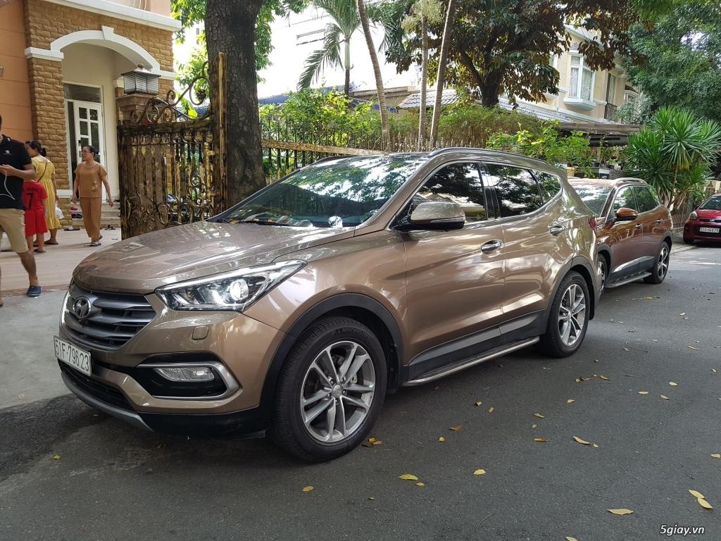Đổi xe. Bán gấp Hyundai Santa Fe 4WD - Màu Nâu full option.