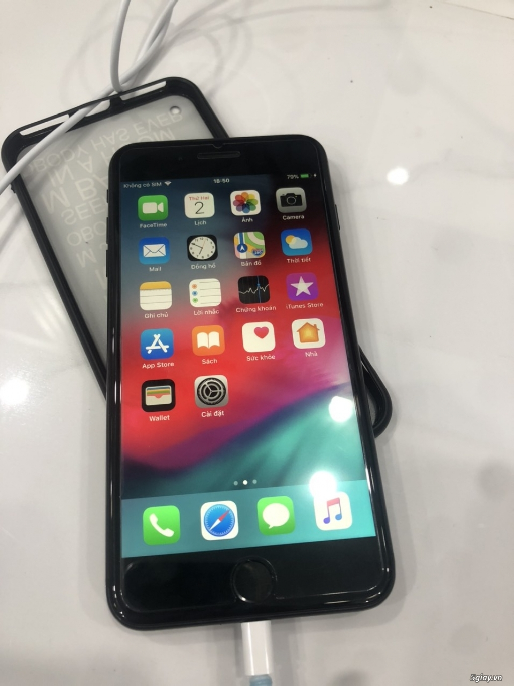 Iphone 7 plus đen 32Gb nguyên zin - máy quốc tế - 3