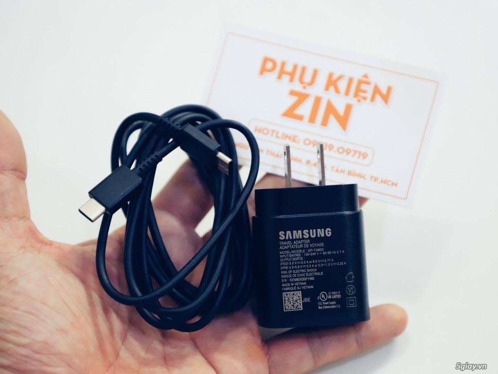 Bộ sạc nhanh SAMSUNG 25W chuẩn Mĩ Note 10/Note 10 Plus - S10 5G .. Chính Hãng bảo hành 12 tháng. - 1