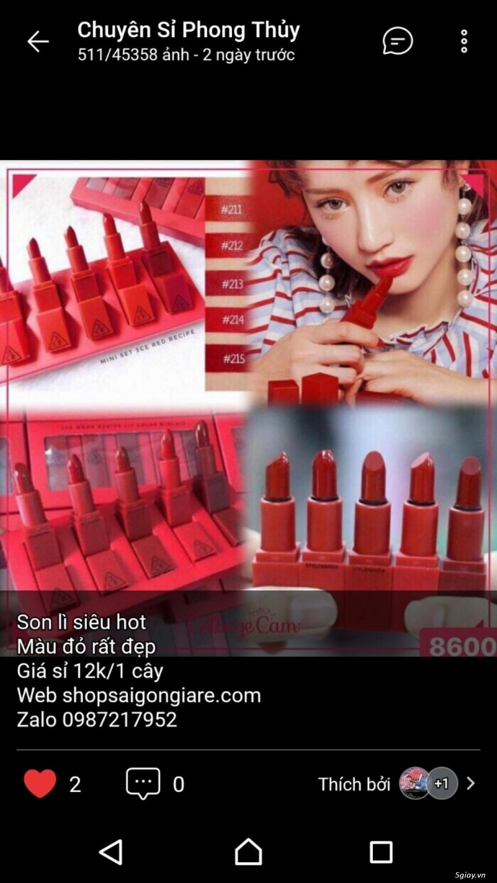 Shop sỉ mỹ phẩm, son môi, nước hoa, son thỏi, son kem, son xăm - 6