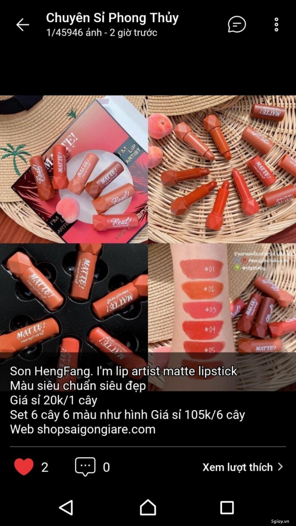 Shop sỉ mỹ phẩm, son môi, nước hoa, son thỏi, son kem, son xăm - 8