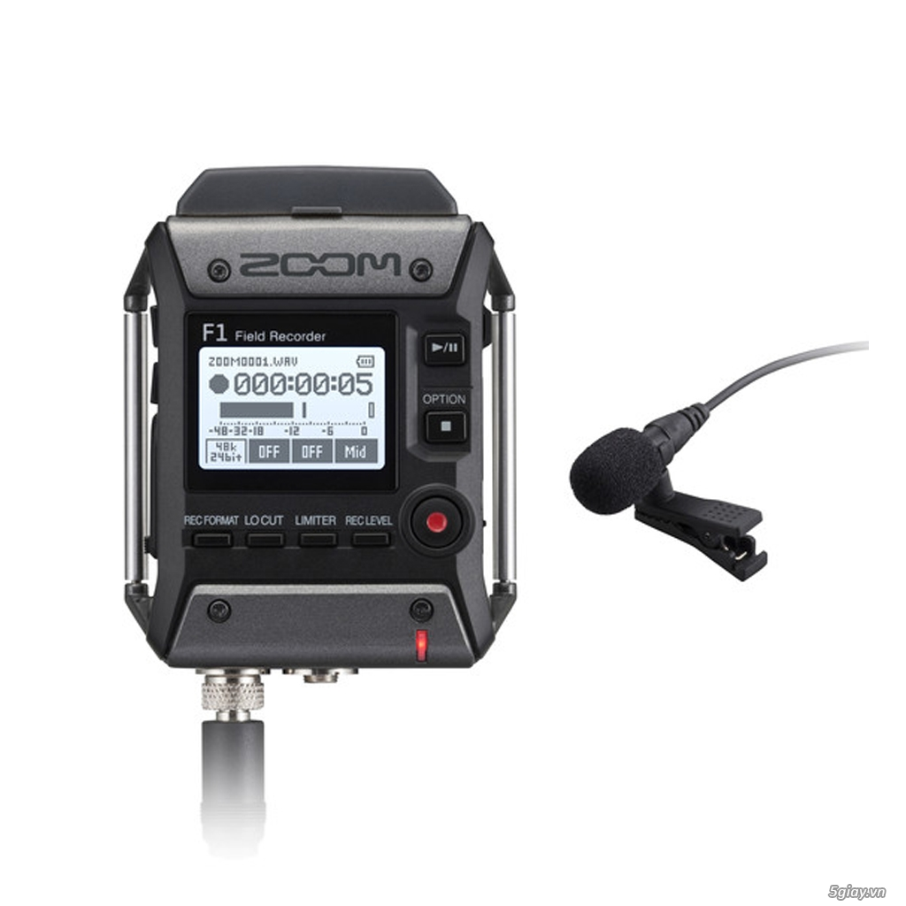 Mic thu âm cài áo dùng trong ghi âm quay phim Zoom F1-LP - 1