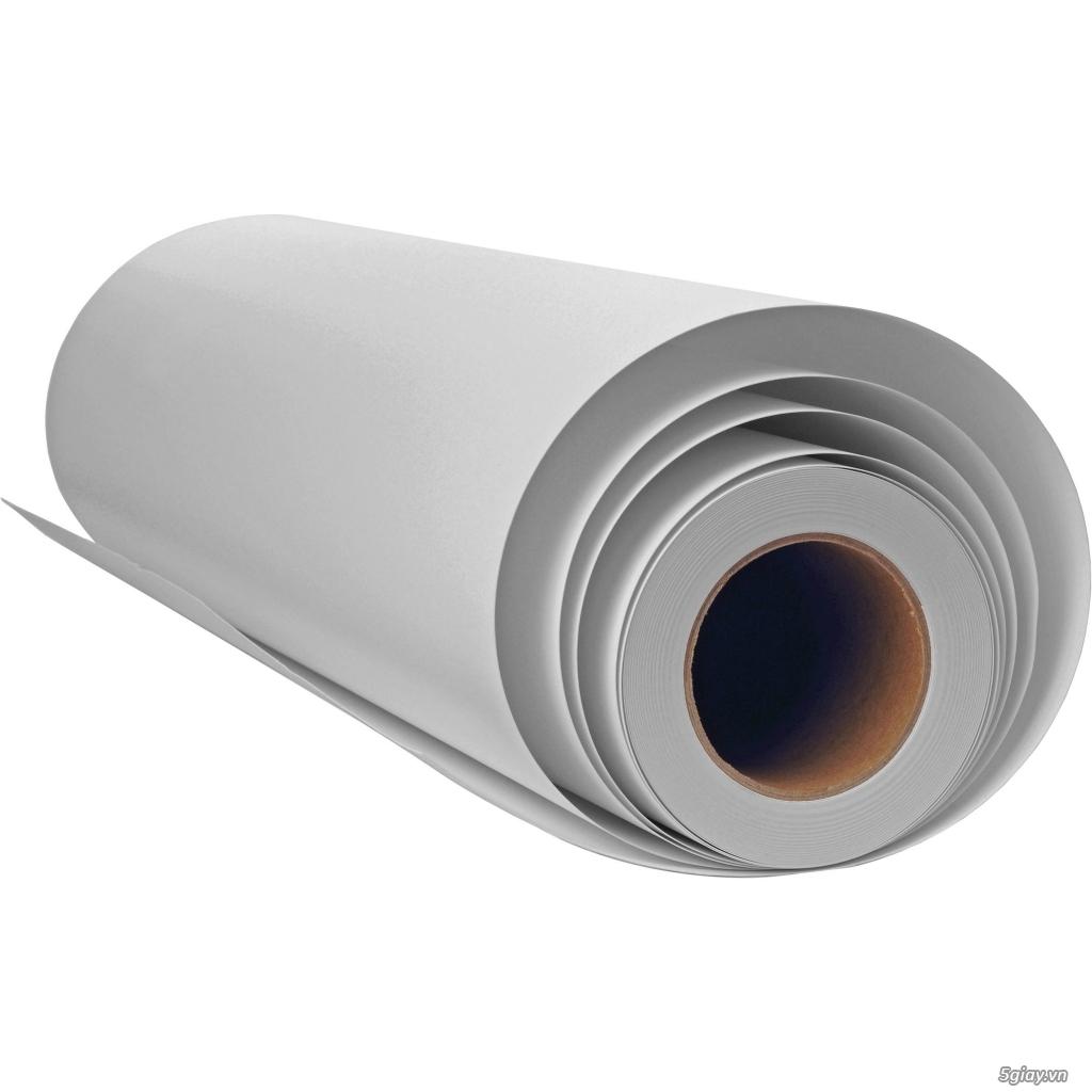 Giấy PP có keo định lượng 130g (chống nước, khổ 0.914cmx50m)