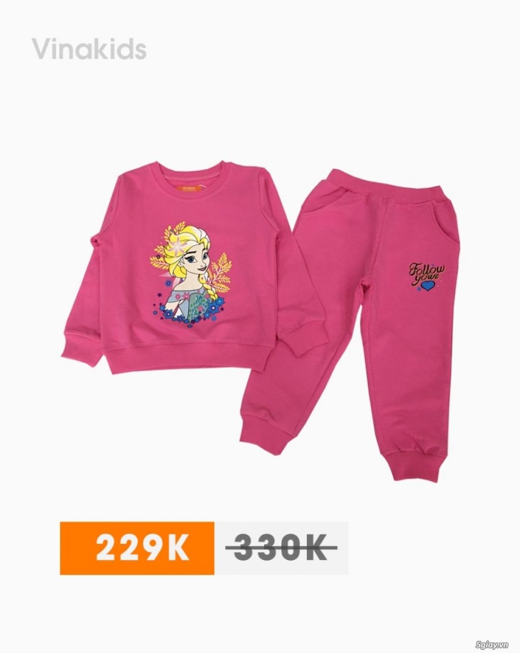 GIÁ CHỈ 229K – Đồ bộ bé gái Elsa tóc vàng xinh xắn