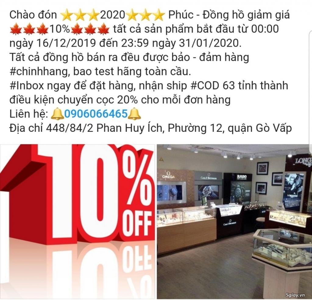Giảm 10% PHÚC (Longines - Omega - Tissot... ), nhận mua hộ - đấu giá free công, free tax, tỷ giá tốt
