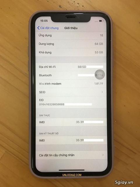 Dịch vụ unlock iPhone X XR XS Max 11/ 11 Pro Max bằng code quốc tế
