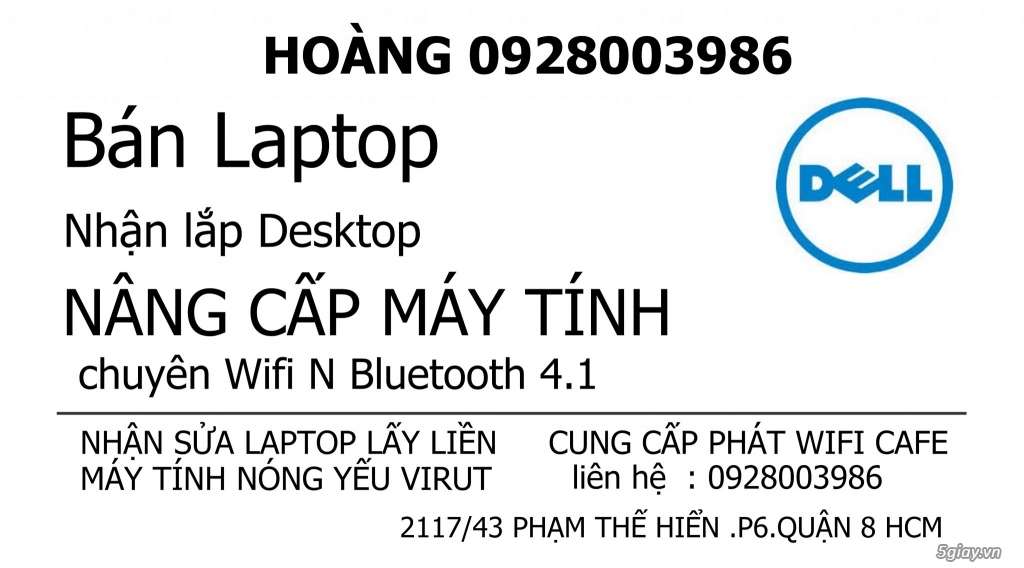 Nâng cấp Card WIFI 5Ghz cho laptop# dell HP SONY ASUS - 9
