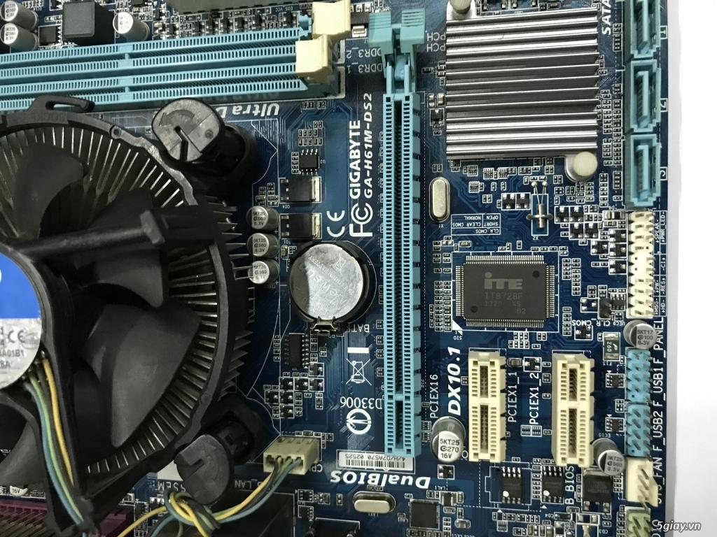 Combo main GIGABYTE H61M rev 3.0 và CPU i5 2320 socket 1155 nguyên zin End: 23h00 ngày 13-01-2020 - 1