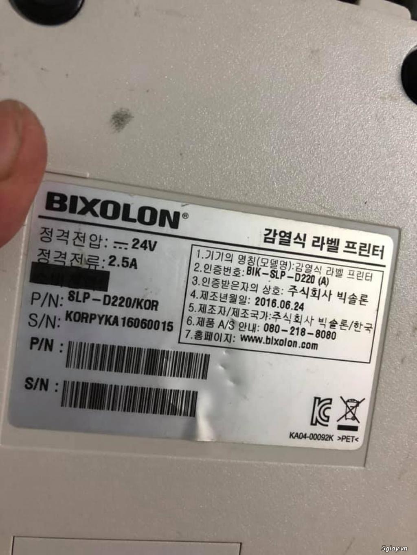 Máy in tem, mã vạch Bixonlon slp-d220, in nhiệt loại decal dán, 700k - 4