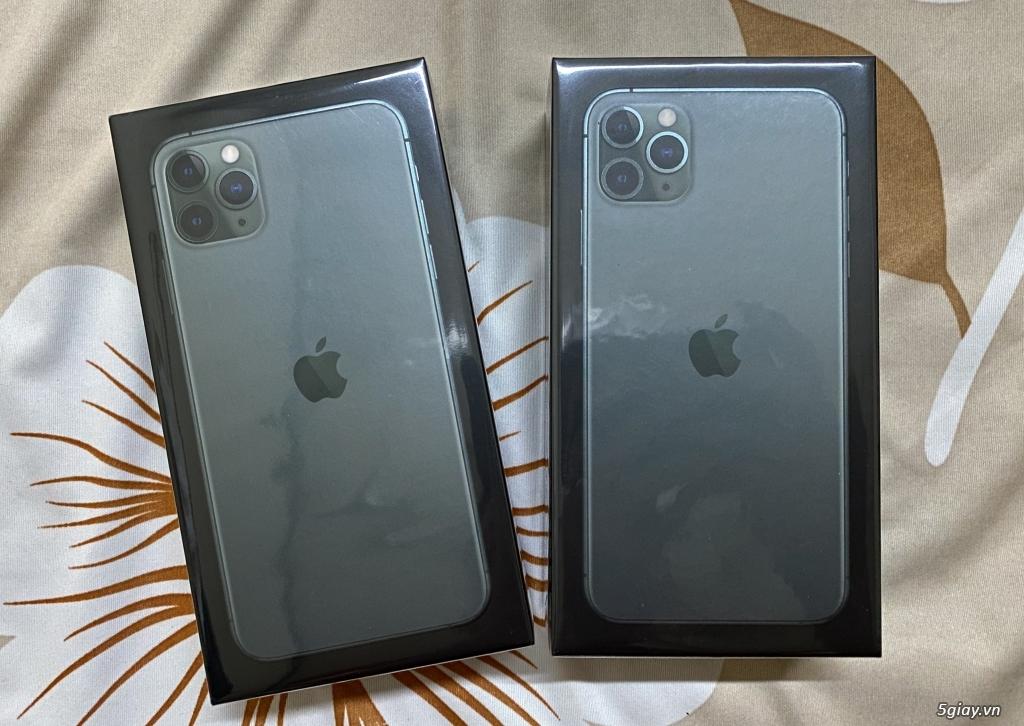 iPhone 11 Pro Max 256G nguyên Seal chưa Active Màu Midnight Green