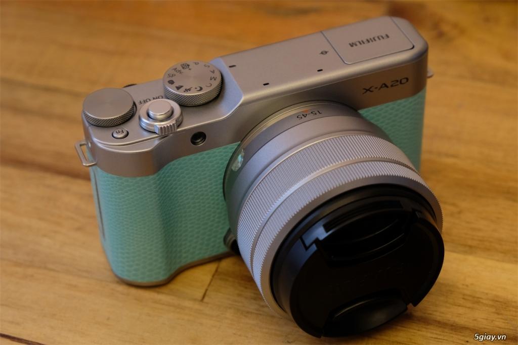 Q1-HCMC - Cần bán Fujifilm XA-20 màu xanh + kit BH hãng đến 11/2021 - 2