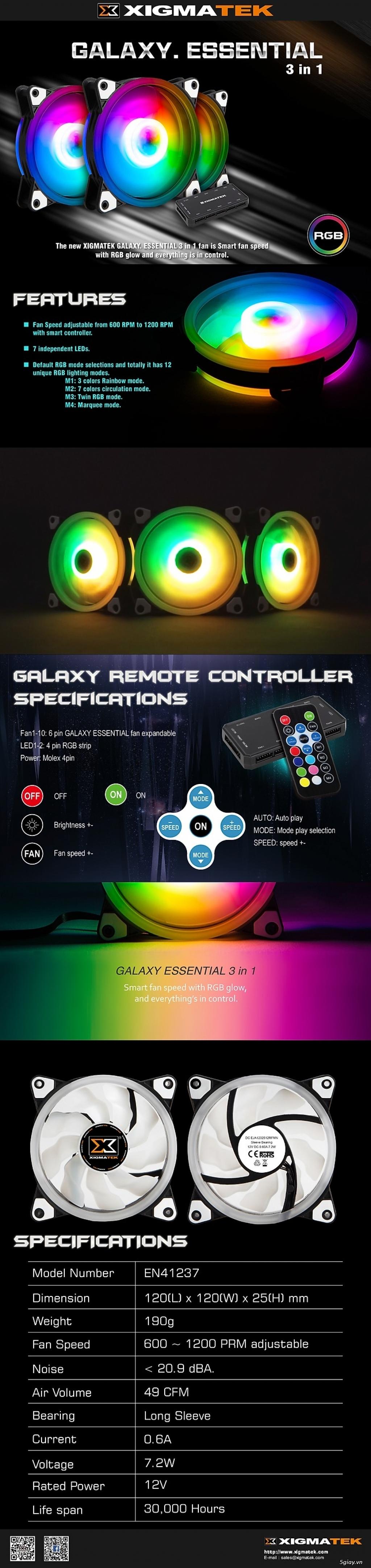 Tản nhiệt Xigmatek Galaxy Essential - EN41237 - Hàng Chính Hãng - 3