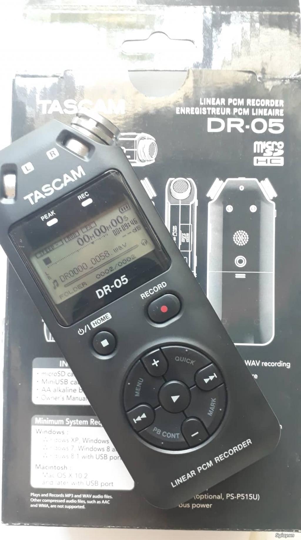 Máy ghi âm chuyên nghiệp TASCAM DR-05, còn BH lâu. - 3