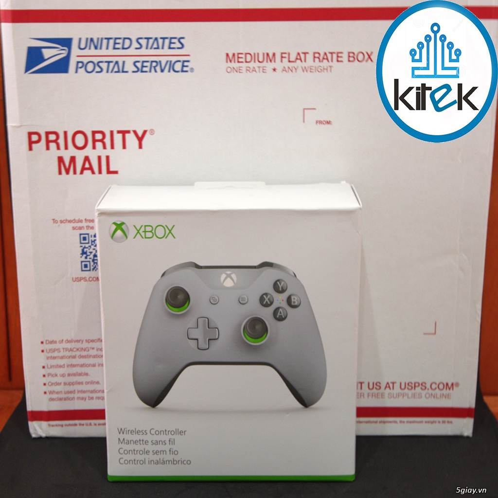 Tay cầm Xbox One S Wireless Controller - Grey Green (SEALED) NEW 100% - 2