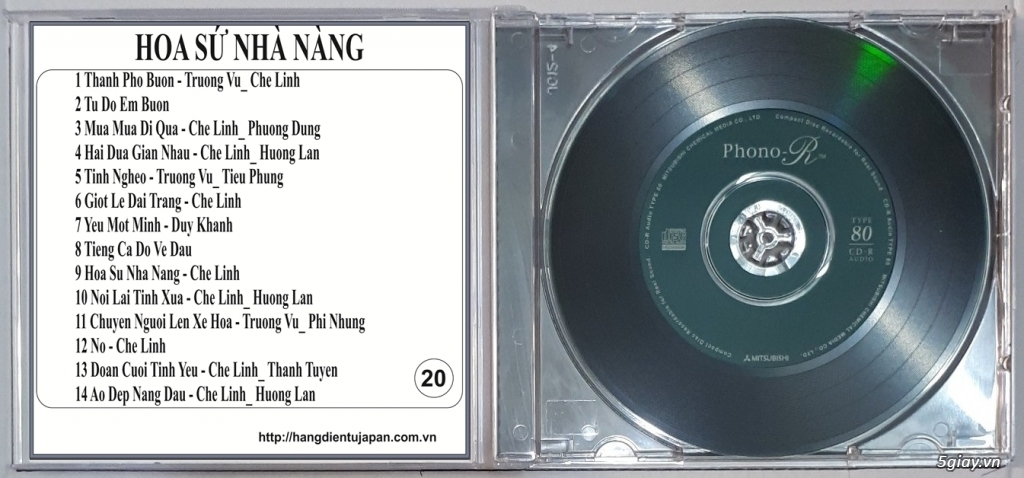 Đĩa Nhạc CD Phono Mitsubishi Chất Lượng Cao - 19