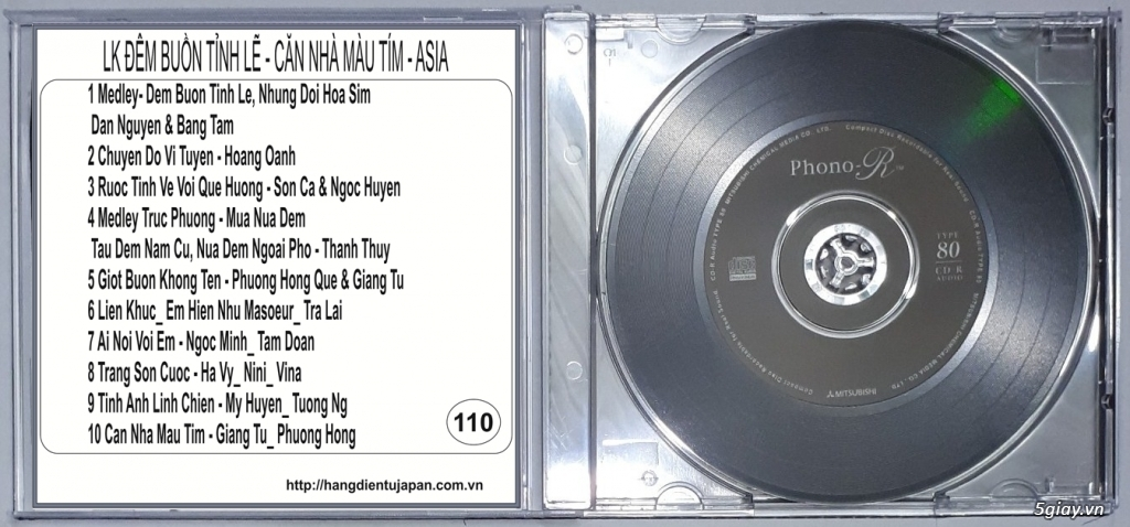 Đĩa Nhạc CD Phono Mitsubishi Chất Lượng Cao - 16