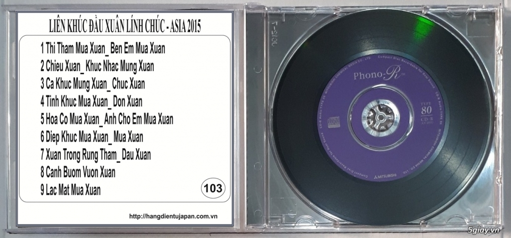 Đĩa Nhạc CD Phono Mitsubishi Chất Lượng Cao - 2