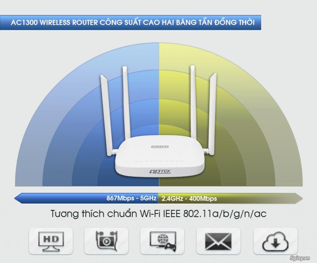 Bộ phát WIFI APTEK A134GHU chuẩn AC - 1