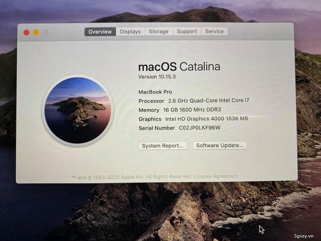 macbook pro 15 retina 2012 mc976 i7 quad 2.6ghz, ram16gb, ssd512gb - 6