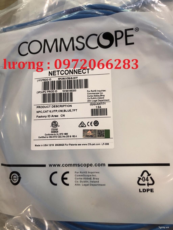 Dây nhảy patch cord 2m Cat6 Blue (NPC06UVDB-BL007F) commscope - 2