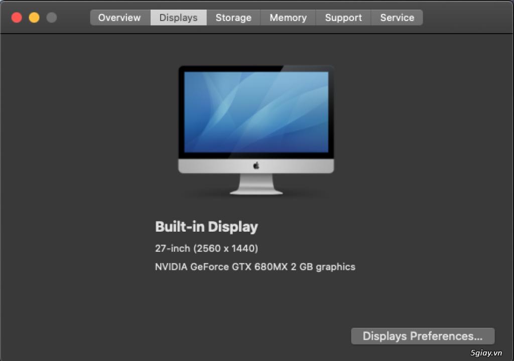 iMac 27 inch Late 2012 - 2