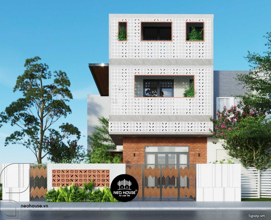 Thiết kế biệt thự đẹp 3 tầng hiện đại sang trọng tại Tphcm - 4
