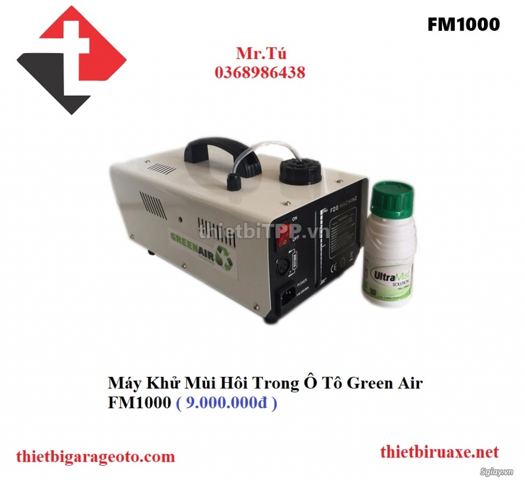 Máy Khử Mùi Hôi Trong Ô Tô Green Air FM1000