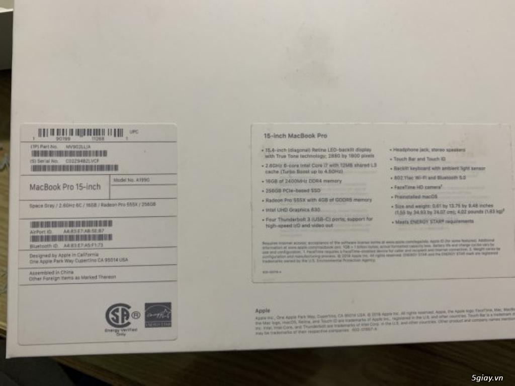 Bán Macbook Pro 15inch MV902 màu Gray 256gb như mới 99% - 7