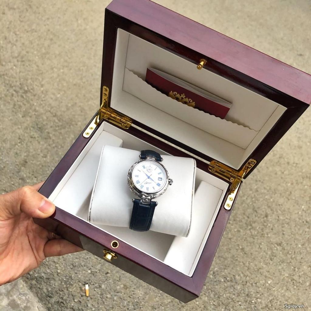 Đồng hồ Nga Poljot President bạc đúc nguyên khối - 10