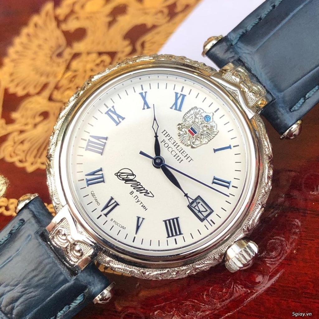 Đồng hồ Nga Poljot President bạc đúc nguyên khối - 6