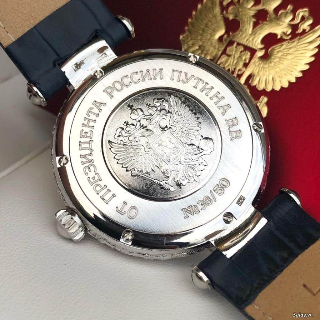 Đồng hồ Nga Poljot President bạc đúc nguyên khối - 9