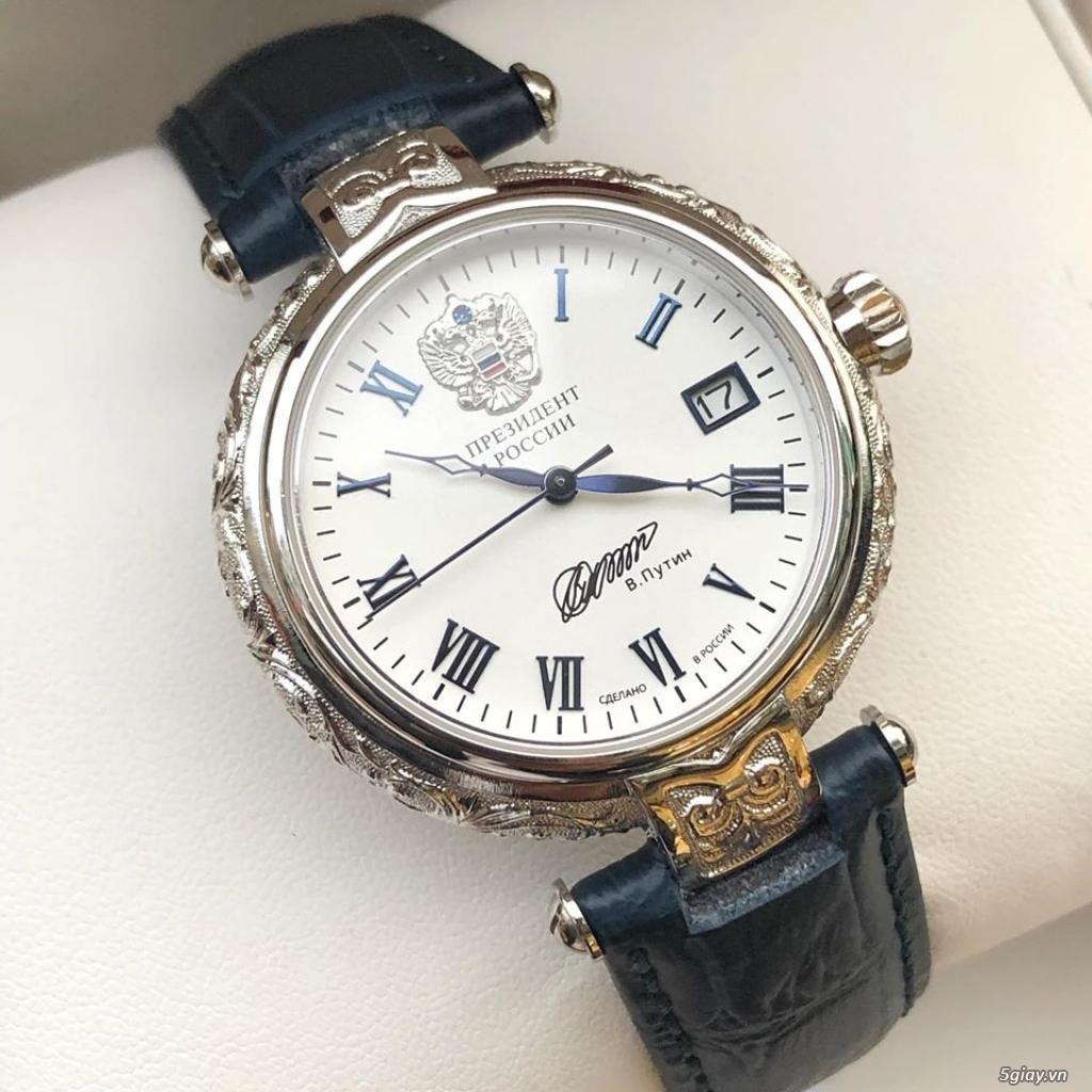 Đồng hồ Nga Poljot President bạc đúc nguyên khối - 7