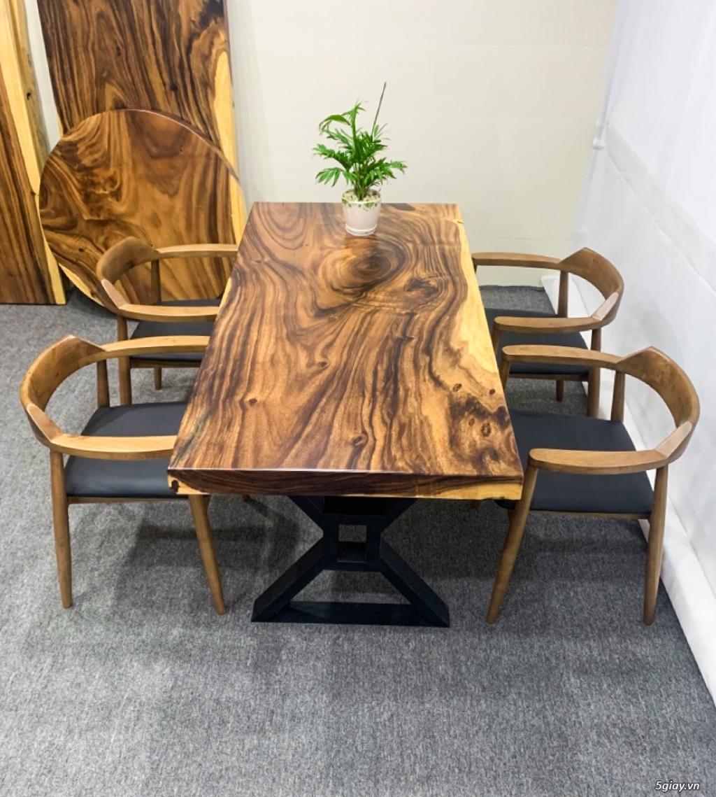 Bàn gỗ me tây nguyên khối KL20031 - 1
