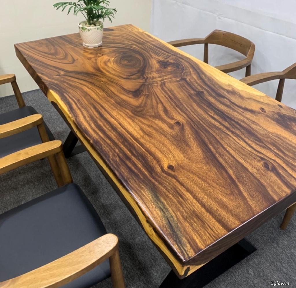Bàn gỗ me tây nguyên khối KL20031 - 4