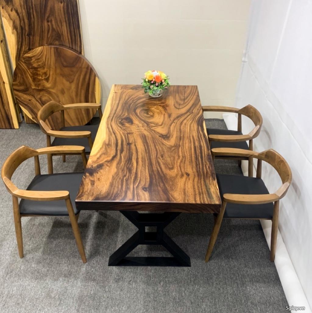 Bàn gỗ me tây nguyên khối KL20029 - 3