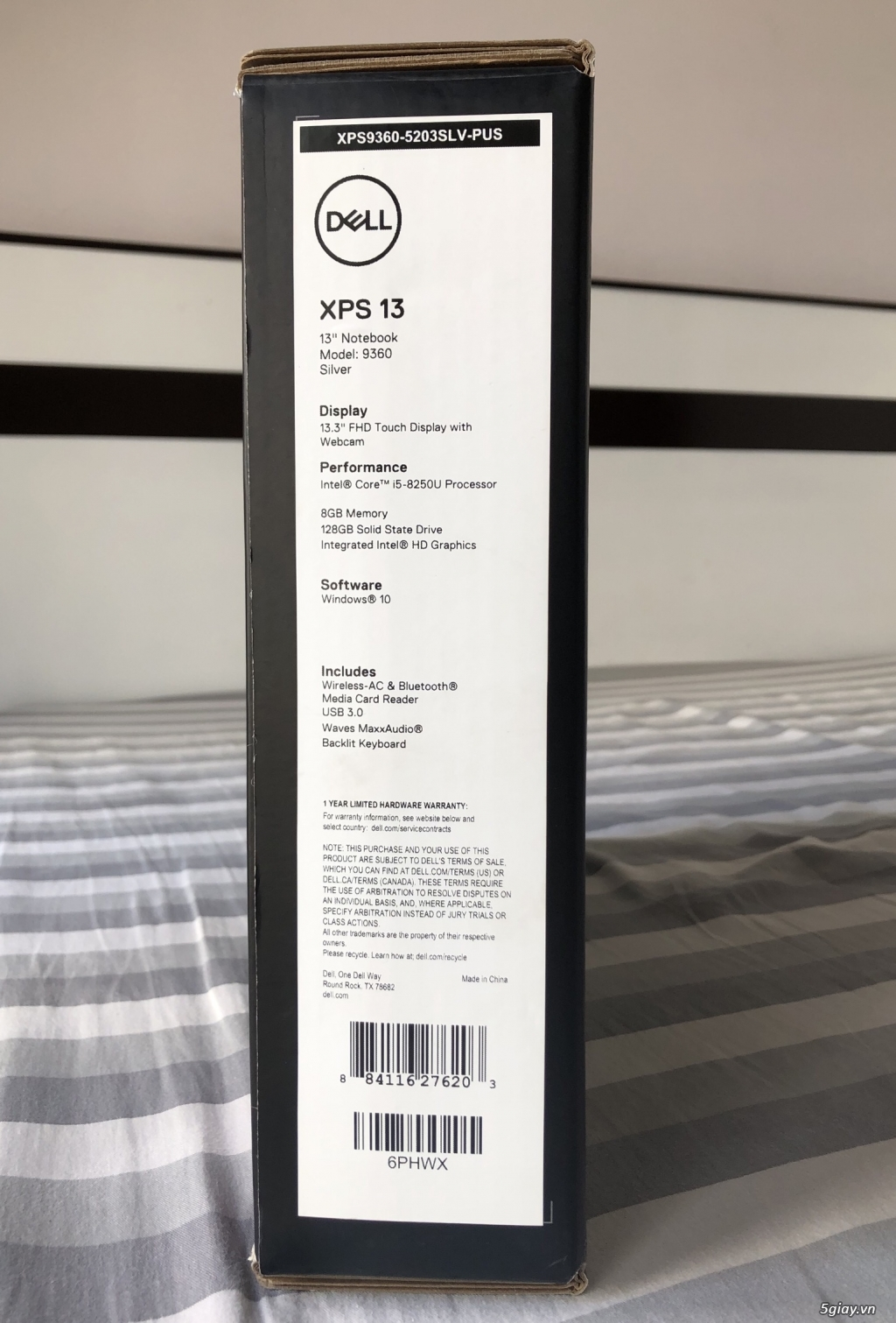 Bán laptop Dell XPS13 notebook 9360, Silver. Full box. Xách tay Mỹ. - 1