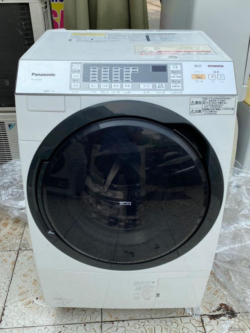 Máy giặt PANASONIC NA-VX3300L giặt 9kg sấy Block 6kg đời 2013Màu trắng