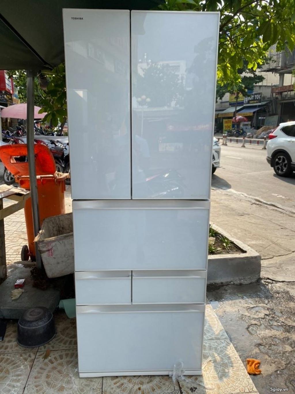 Tủ lạnh TOSHIBA GR - G51FXV (ZW) 510L date 2013, màu trắng