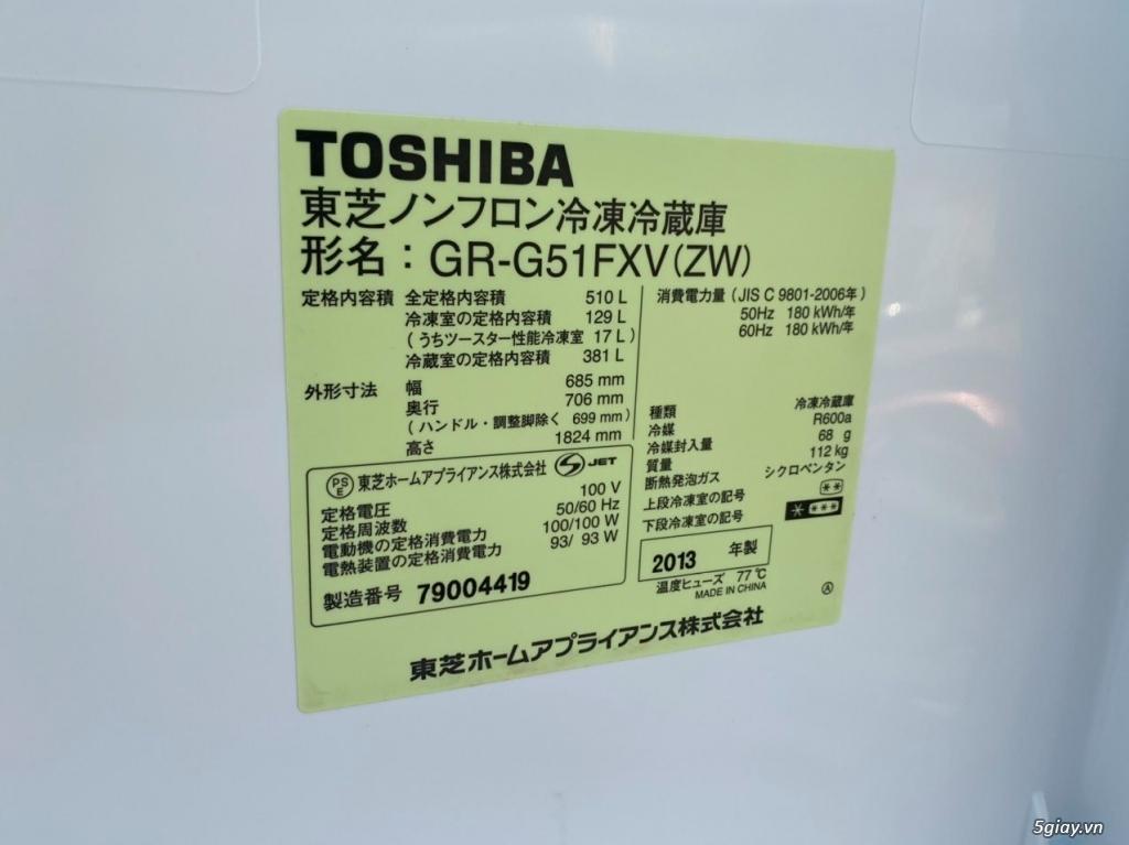 Tủ lạnh TOSHIBA GR - G51FXV (ZW) 510L date 2013, màu trắng - 6