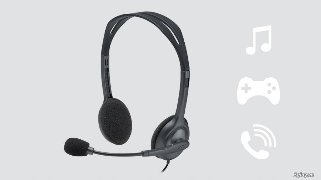 Tai nghe Logitech H111 có mic cho bé học Online, mới 100% End: 23h 09/04/20 - 3