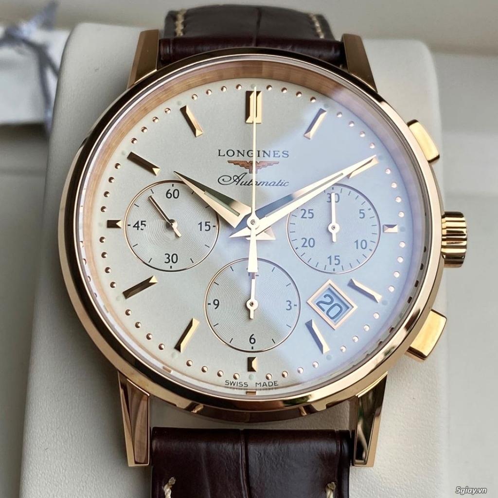 Longines Heritage Chronograph vàng hồng 18k - 8