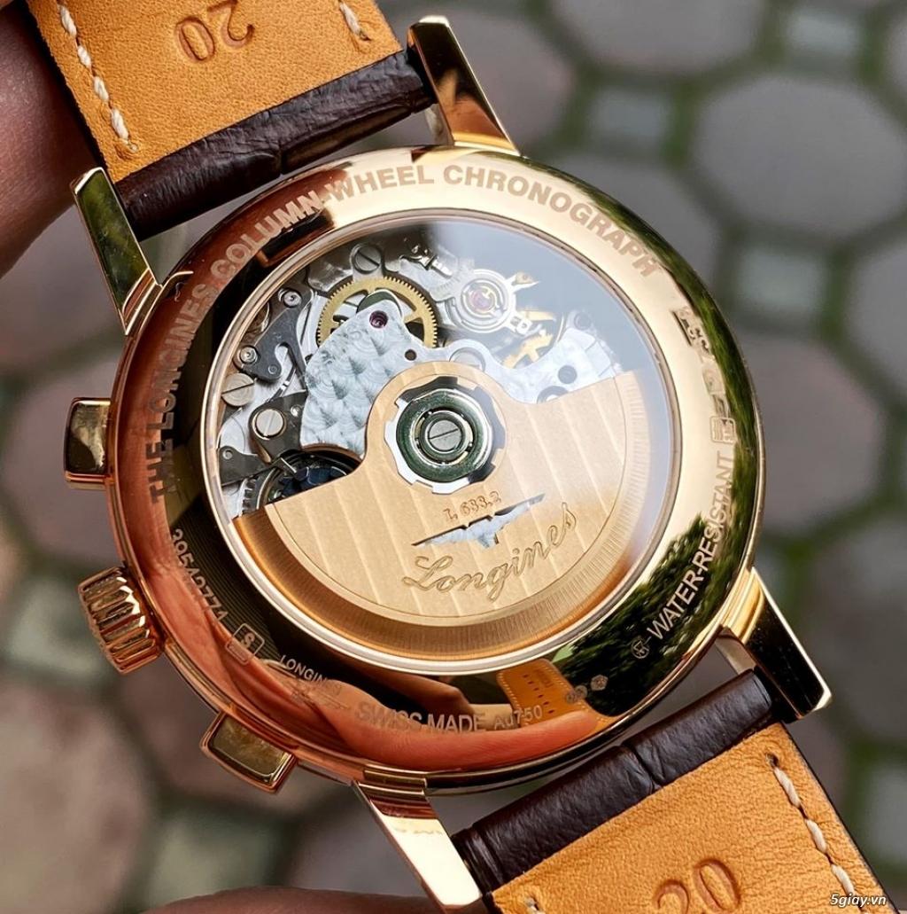 Longines Heritage Chronograph vàng hồng 18k - 9
