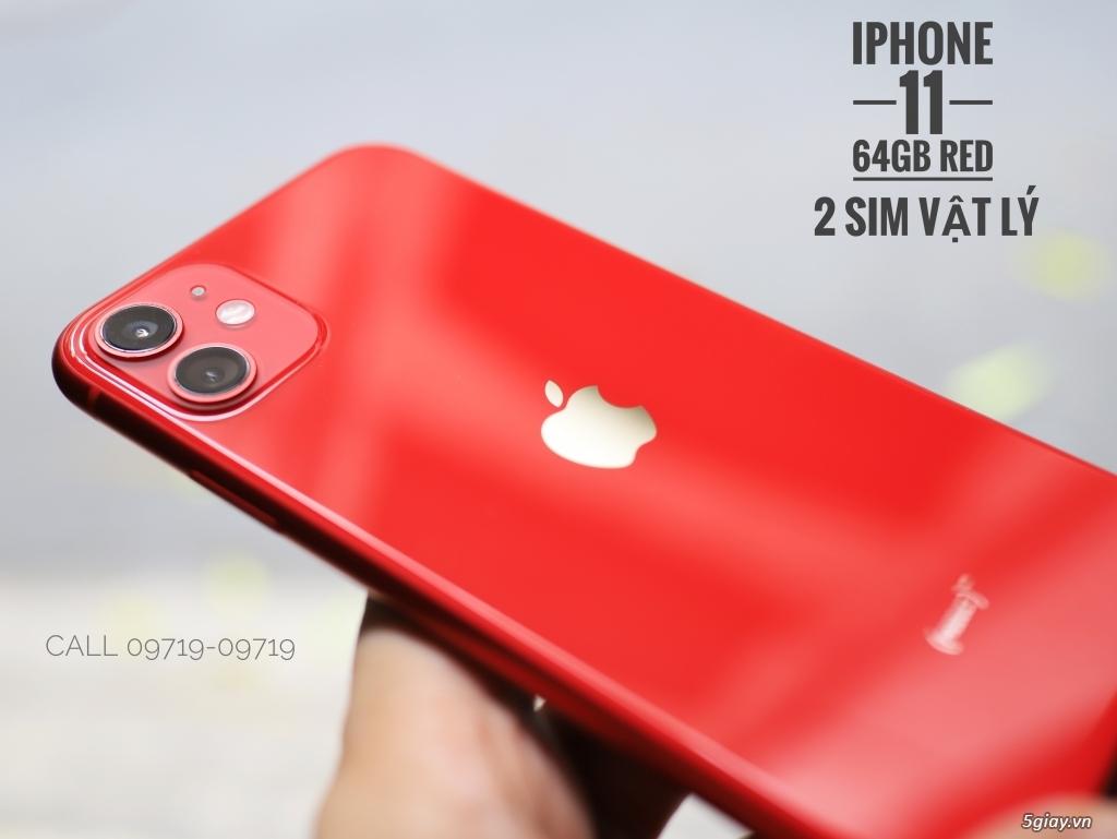 iPhone 11 64Gb RED 2 Sim Vật Lý ZA/A - Bảo Hành Apple 09/2020