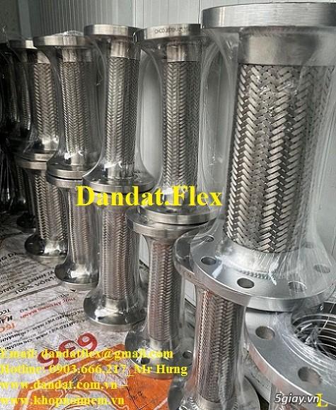 Khớp nối mềm chống rung mặt bích, ống chống rung inox, khop gian no - 5